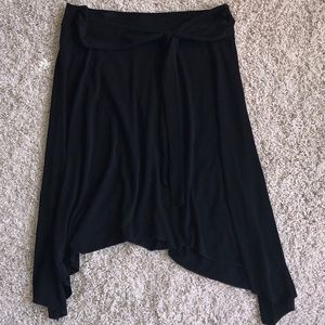 FREE WITH PURCHASE Front Tie Black Skirt